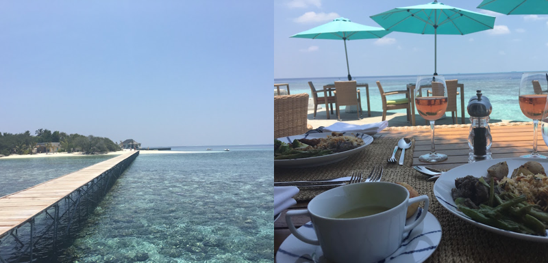 Oblu Maldives Jetty and Food