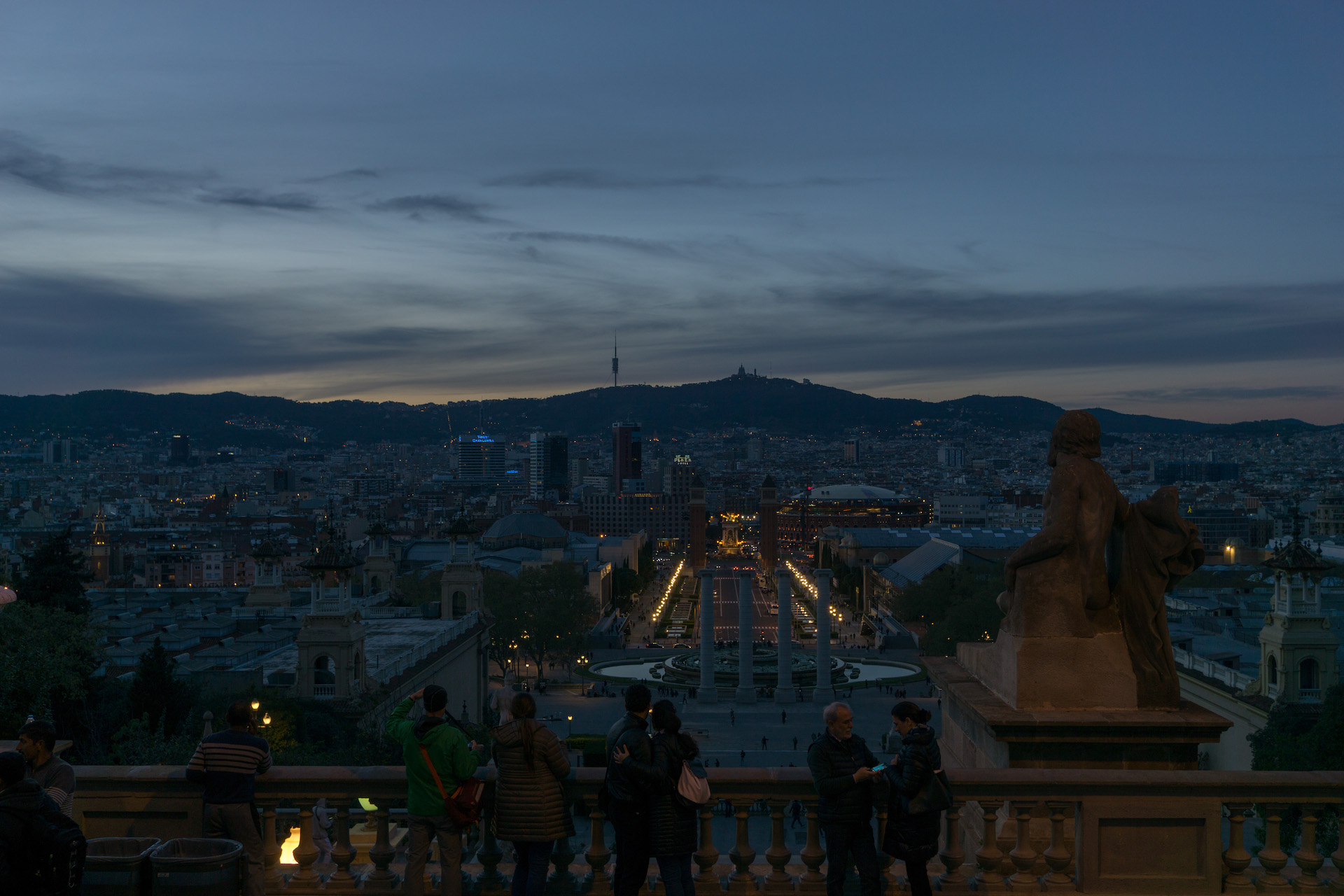 MNAC at night Barcelona
