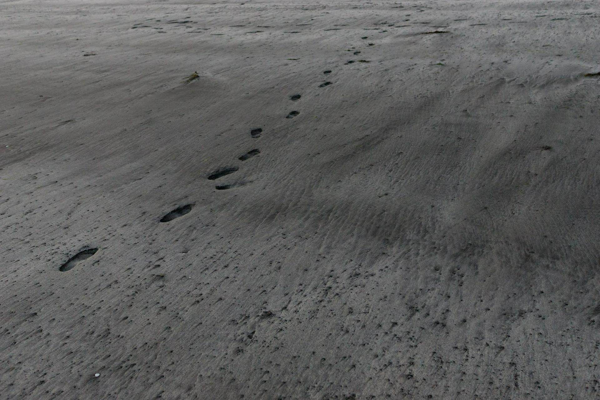 Glenbrittle footprints, Skye