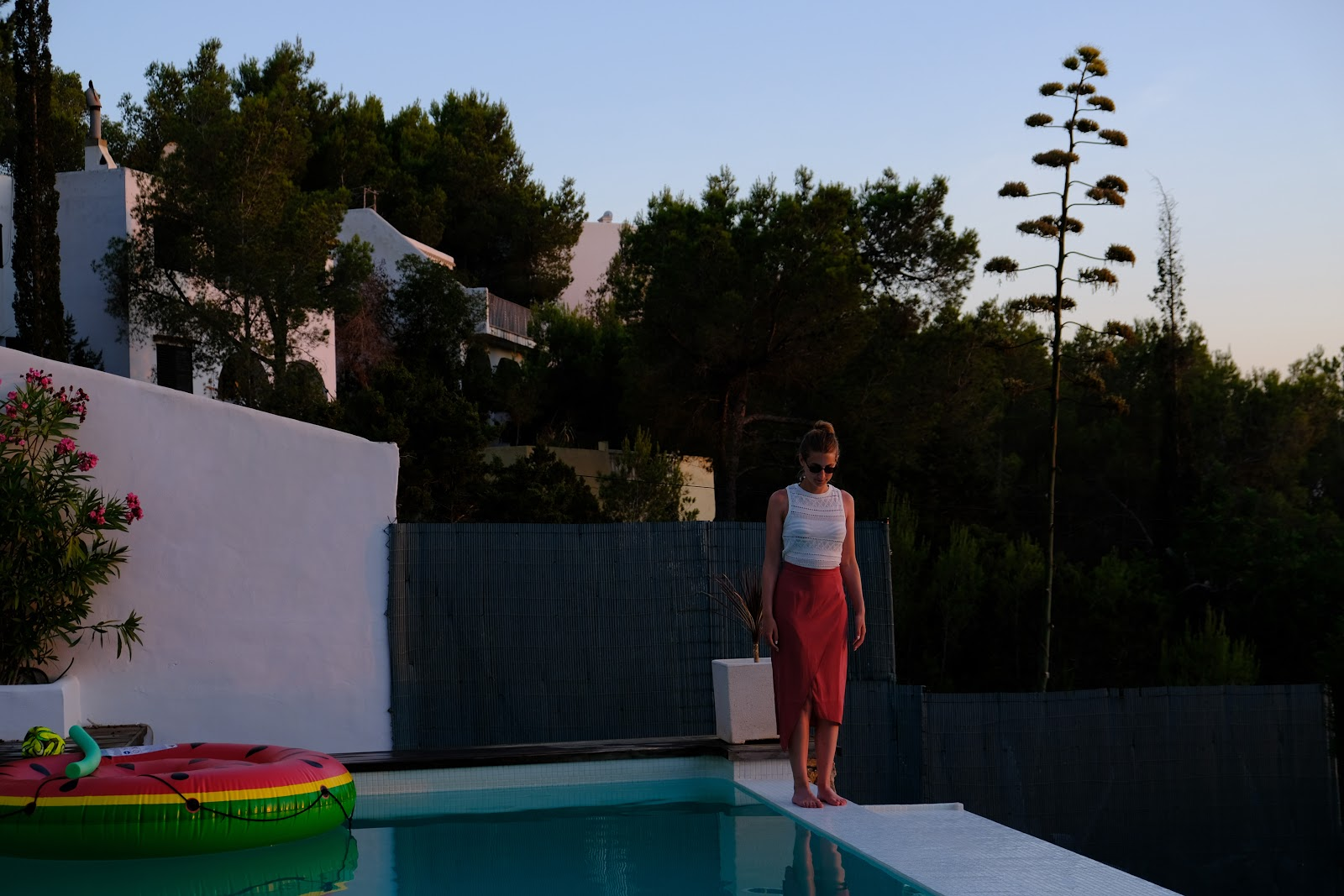 Pool sunset, Ibiza